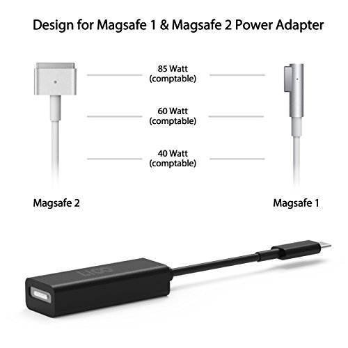 USB C to Type C Laptop Adapter, Liootech Supports USB-PD Power Converter for Charging Type-C Laptops (Black) by Liootech (Image #2)