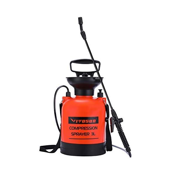 VIVOSUN 0.8-2 Gallon Lawn and Garden Pump Pressure Sprayer with Pressure Relief Valve, Adjustable Shoulder Strap