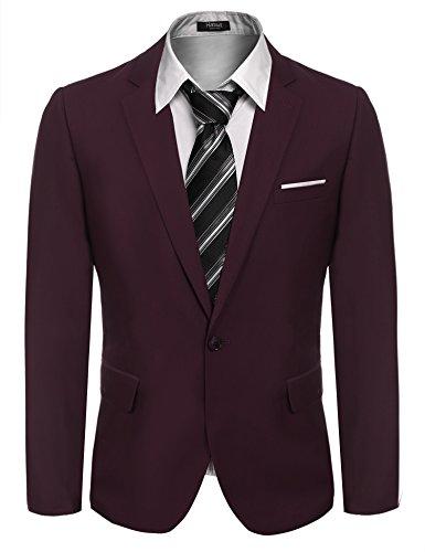 Hasuit Men's Casual One Button Slim Fit Stylish Blazer Coats Jackets Dress Suit by Hasuit (Image #1)