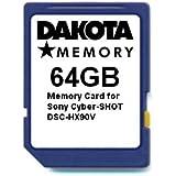 64GB Memory Card for Sony Cyber-SHOT DSC-HX90V