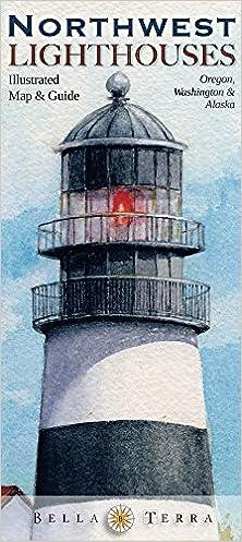 Lighthouses In Oregon Map.Northwest Lighthouses Illustrated Map Guide Oregon Washington