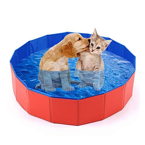 Mcgrady1xm Collapsible Pet Dog Pool Large, Kiddie Pool Hard Plastic Foldable Bathing Tub PVC Outdoor...