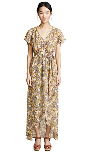 Ella moss Women's Wrap Dress, Dandelion, XS (Moss Wrap Ella)