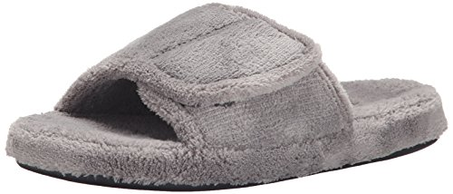 ACORN Men's Spa Slide, Grey, Medium/9-10 M US Spa Slide Mn