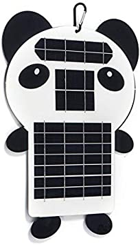 Solar Panel 15W 5V Portable Solar Bag Charger with High Efficiency Panda Shape Monocrystalline Solar Power Bank Panel Output Charger for Laptop Tablet GPS iPhone iPad by DDY