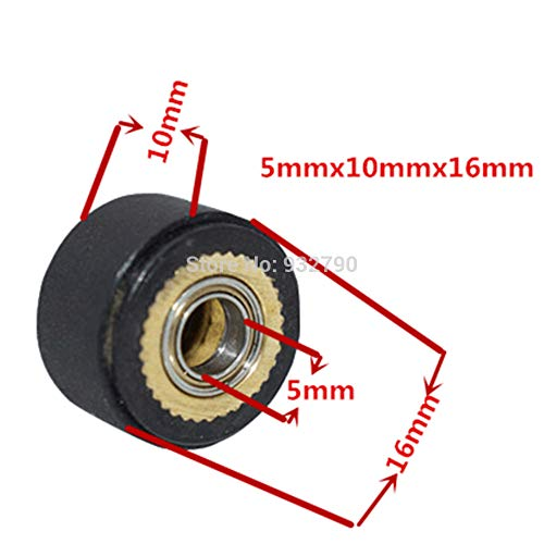 FINCOS 1/2/3/4/5/6pcs 3x11x16mm/4x10x16mm/4x10x14mm/4x11x16mm/5x10x16mm/5x11x16mm Pinch Roller Wheel for Roland Vinyl Plotter Cutter - (Color: 6pcs 4x10x14mm) by FINCOS (Image #3)
