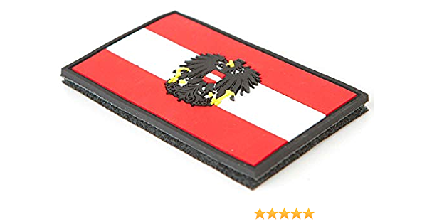 STEINADLER - Bandera de Austria de PVC, Parche de Velcro como Emblema para ejército, Uniforme y Chaqueta, Bandera con Escudo de Austria: Amazon.es: Juguetes y juegos