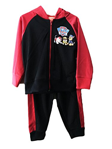 Ait Corporation Paw Patrol Toddler Red & Black Hooded Jogging Suit (3T)