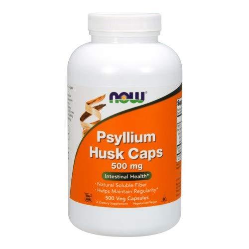 NOW Foods Psyllium Husk 500 mg, 500 Capsules (2 Pack)