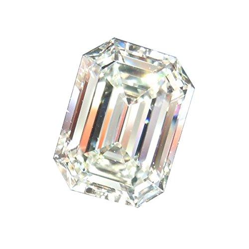 1/2 Ct Heart Cut Loose Diamond (RINGJEWEL 3.06 ct VS2 Loose Moissanite Emerald-Cut Use 4 Pendant/Ring Genuine White J-K)