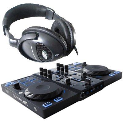 HERCULES DJ Control Air USB - Mesa de mezcla (incluye altavoces ...