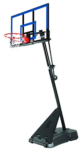 SPALDING 50-INCH ACRYLIC PORTABLE ANGLED POLE BASKETBALL SYSTEM (Spalding 50 Inch Portable Basketball System)