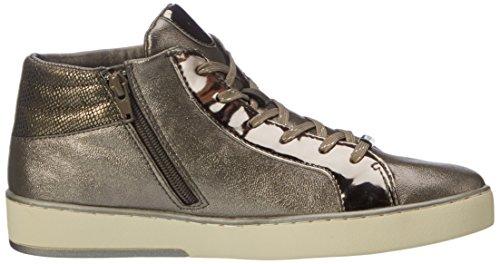 Bugatti Ladies 422291305050 Sneaker Alta Marrone (taupe / Metallizzato)