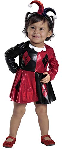 Princess Paradise Baby Girls' Harley Quinn Costume Dress and Diaper Cover Set, As As Shown, 0 to 6 Months
