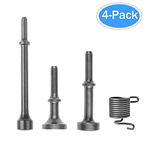 4 Pieces Pneumatic Bits Set Smoothing Hammer Air Chisel Bits Tools Kit with Spring by Kelife by Kelife
