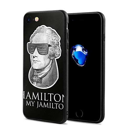 Martina Houston Hamilton with Sunglasses iPhone 7 Case, iPhone 8 Silicone Case Gel Rubber Slim Fit Soft Cover Case Full Body Protection for iPhone 7/iPhone 8 ()
