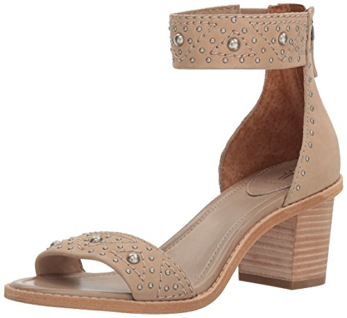 FRYE Women Brielle Deco Back Zip Dress Sandal Taupe