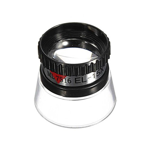 Minzhi 15X Monocular Magnifying Glass Loupe Lens Jeweler Tool Eye Magnifier Watch Repair Tool from Minzhi