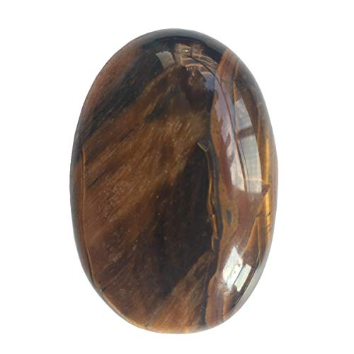 Loveliome Oval Worry Stones, Palm Pocket Healing Crystal Massage Spa Energy Stone(Tiger's Eye)