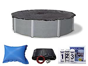 MOST POPULAR Above Ground Closing Swimming Pool Covers w/Chemical Kit & Pillow (33'Round)