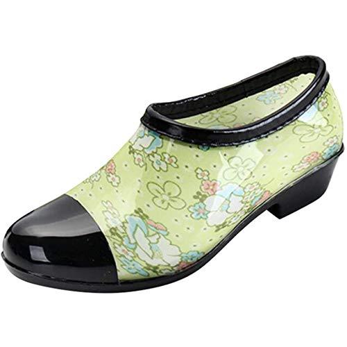 à taille vert Zhrui 7 talon pluie Bottes femme couleur uk large de vert 7qzaxwt