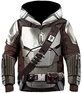 Mandalorian Hoodie SW Film Cosplay Kostuum Accessoires 3D Print Unisex Peuter Kids Kostuum Film Mode Polyester Trui