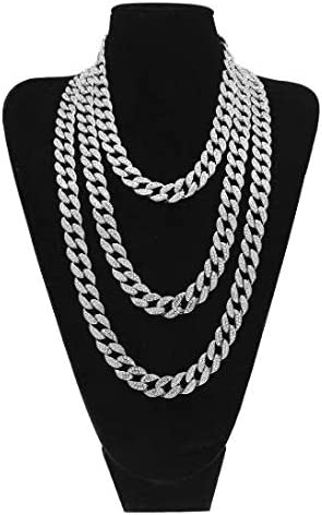 JRjewelry Mens Hip Hop 18K Gold Plated Cuban Link 15mm Fully Iced-Out Tennis Chain Necklace