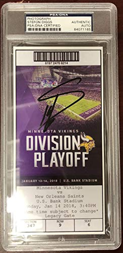 Stefon Diggs Autographed Signed Minnesota Miracle Reprint Ticket Certified Authentic