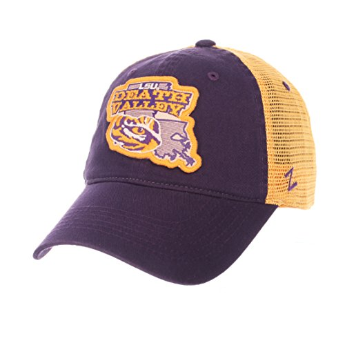 LSU Tigers Death Valley Zephyr Purple Freeway Mesh Adj. Slouch Hat Cap