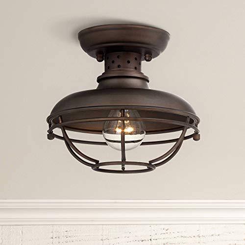Light Steel Ceiling Spot Light - Franklin Park Rustic Outdoor Ceiling Light Fixture Bronze 8 1/2