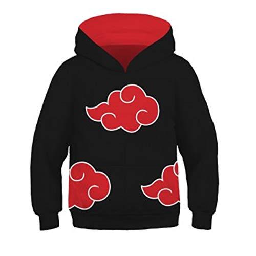 CHENMA Unisex Kids Boys Naruto 3D Print Pullover Hoodie Sweatshirt with Kangaroo -