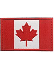 FAMI Canadian Flag Maple Leaf Patch Canada Hook Loop Embroider Sew On Motorcycle Biker TacticalTags Patch for Travel Backpack Hats Jackets Team Uniform