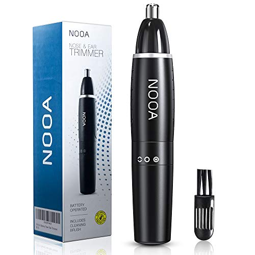 NOOA Nose Trimmer and Ear Hair Trimmer for Men Cordless, Painless Electric Nose Hair Remover, Mens Nose Hair Trimmer with Vacuum Battery Operated