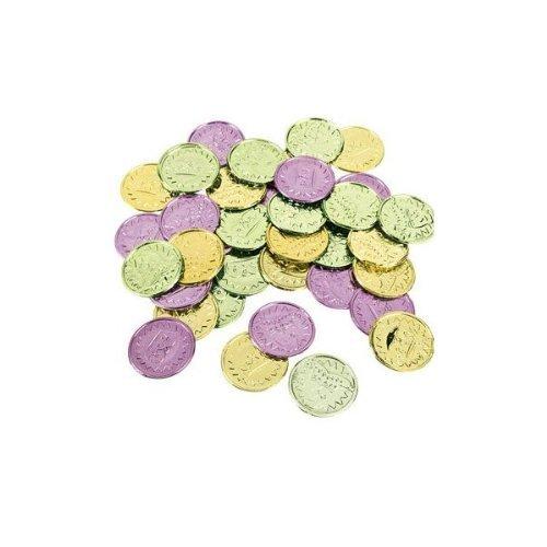 Colorful Mardi Gras Coins (144 Pieces) 1