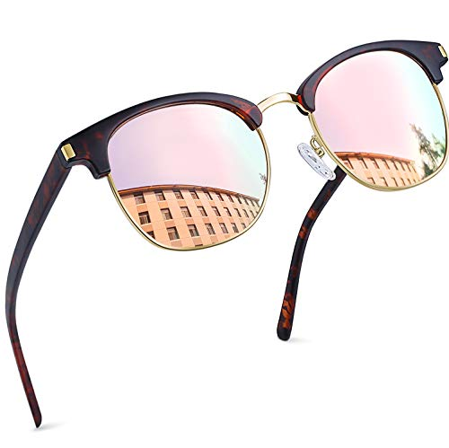 Joopin Polarized Semi Rimless Sunglasses Women Men Brand Sun Glasses UV Protection