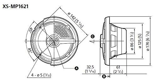 Sony XSMP1621 6 1/2-Inch coaxial 2-way Marine Speaker by Sony (Image #4)