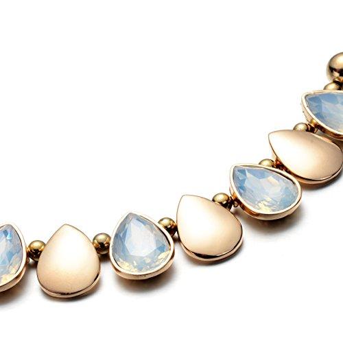 Oaonnea Women Gold Chains Choker Necklace Water Drop Pendant Statement Collar Necklaces (waterdrop necklace) by Oaonnea (Image #3)