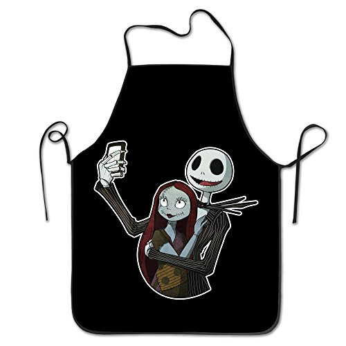 Jack Skellington Sally Halloween Durable Kitchen Apron Bib Garden
