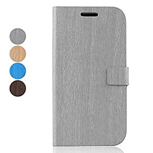 PEACH ships in 48 hours Bamboo Stripe Pattern PU Leather Case with Stand for Samsung Galaxy S4 I9500 (Assorted Colors) , Gray