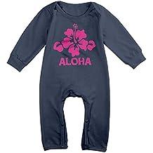 Mkajkkok Aloha Flower Hawaiian The Baby's Long Sleeve Jumpsuit.
