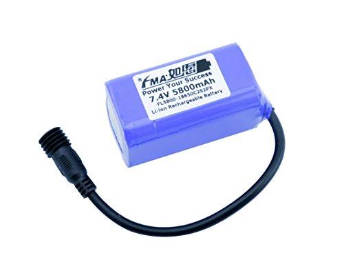 Liion Battery 7.4V 5800Mah For Led Bike Light 2S2P Us