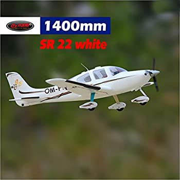 DYNAM RC Airplane SR22 White 1400mm Wingspan - PNP