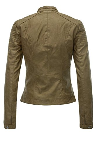 Military Onlsteady Only Olive Jacket Otw para Chaqueta Leather Faux CC Mujer zqwqg