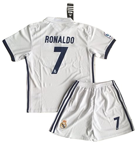 Cristiano Ronaldo  7 Real Madrid 2016 2017 Home Jersey   Shorts For Kids  11 13 Years Old