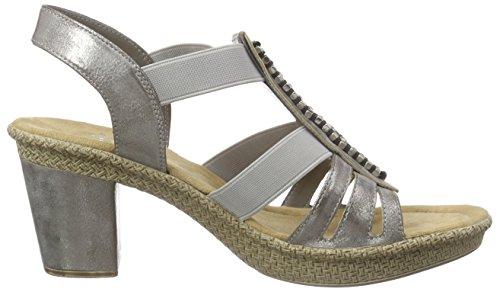 Rieker 66584-40 Sandalias De Vestir, Mujer Gris (Grey)