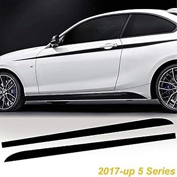 2x M Performance Car Side Skirt Sill Stripe Decal Sticker Matte Black Universal
