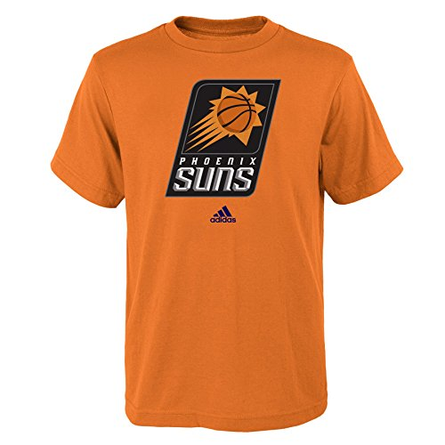 fan products of NBA Phoenix Suns Boys Youth Full Primary Logo Short Sleeve Tee, Large (14-16), Orange