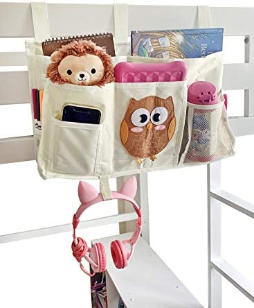 Votprof Bedside Caddy Hanging Organizer, Hanging Storage Bag for Kids, Baby Room, Nursery Storage – Lots of Storage Space for Kids Room, Fits Any Bed That Has Side Rails