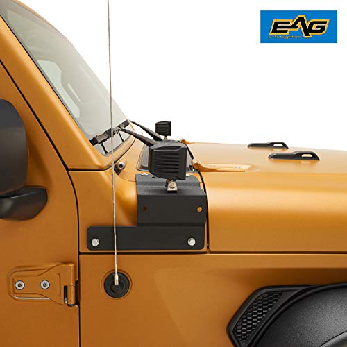 EAG Windshield Hinge Light Mounting Brackets Fit for 87-06 Jeep Wrangler TJ//YJ Pair
