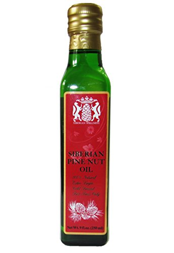 Price comparison product image Organic,  100% Pine Nut Oil. 9 Fl. Oz. (250 Ml) Extra Virgin,  Cold-pressed,  Fresh Inventory Only,  Made in Siberia,  Russia. 100% Natural. Shipped from Refrigerated Warehouses in MI,  USA.